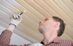 Как покрасить деревянную вагонку на потолке: пошаговая инструкция