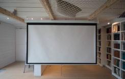 Как сделать экран для проектора из натяжного потолка