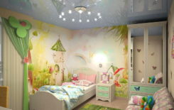Выбираем натяжной потолок в детскую комнату