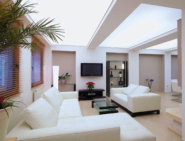Светопропускающий потолок в интерьере