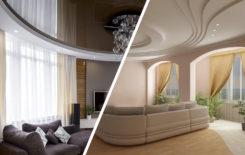 Натяжные потолки или гипсокартон - что лучше?