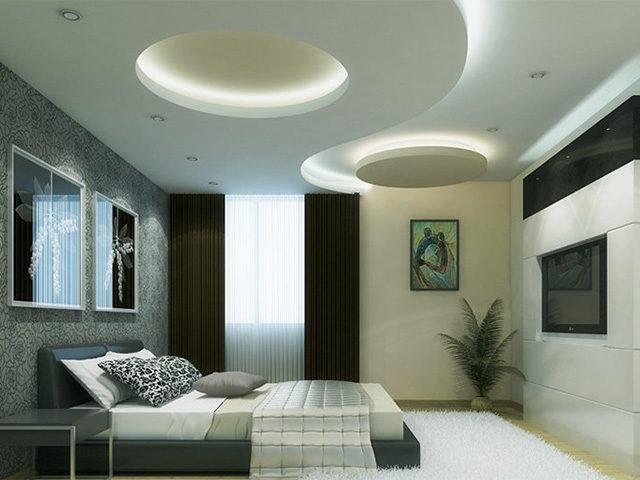 Гипсокартонный подвесной потолок в интерьере