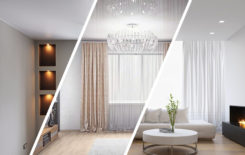 Матовый, глянцевый и сатиновый натяжной потолок