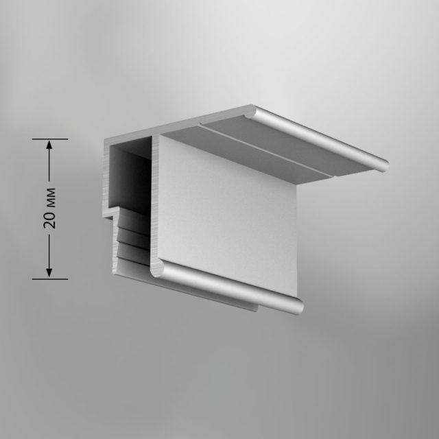 Алюминиевый потолочный багет с гарпунной системой крепления