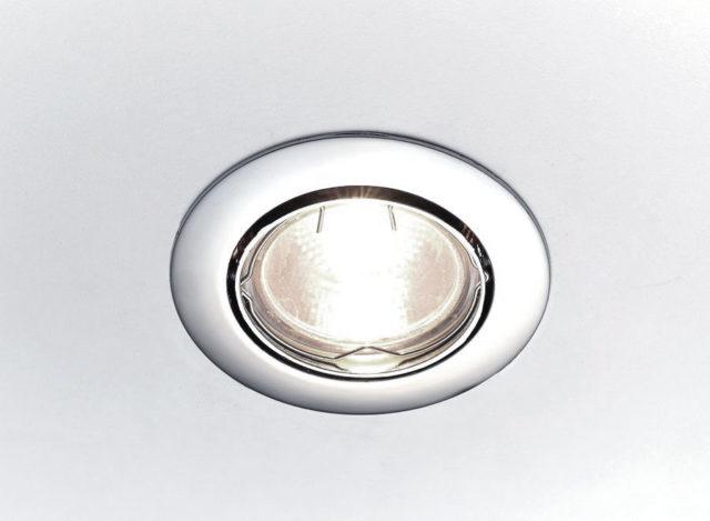Светильник G5.3 в потолке
