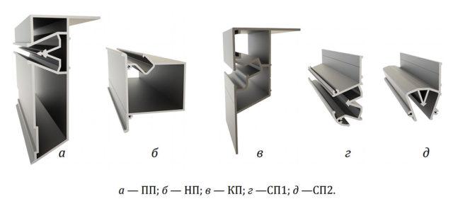 Виды профилей для двухуровневого потолка