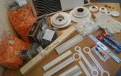 Перечень необходимых комплектующих для натяжного потолка