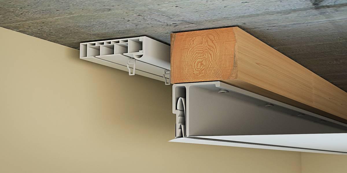 Схема устройства скрытой ниши для штор