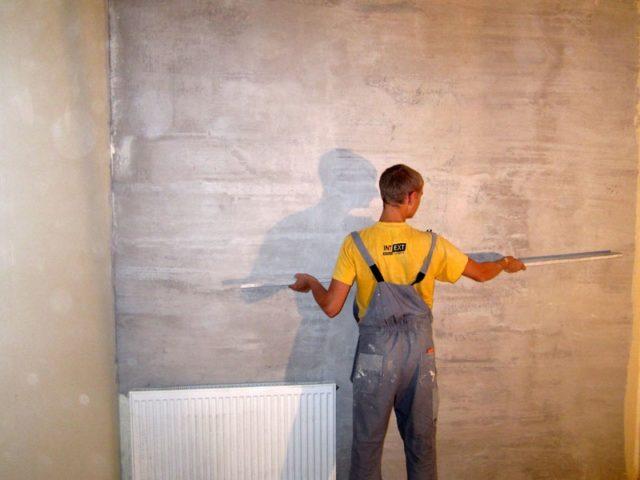 Ровность стен проверяется правилом
