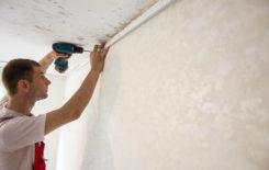 Как правильно крепить багет при монтаже каркаса для натяжных потолков