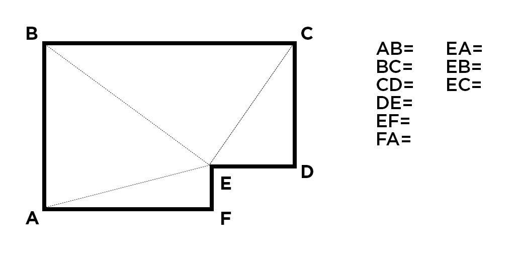 Прямоугольный потолок с выступающим углом