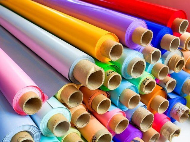Рулоны цветной пленки ПВХ