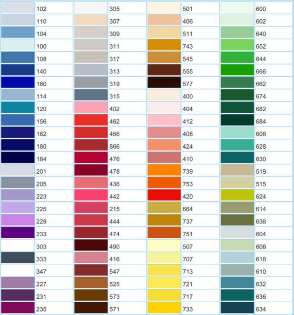Цветовая палитра глянцевого полотна