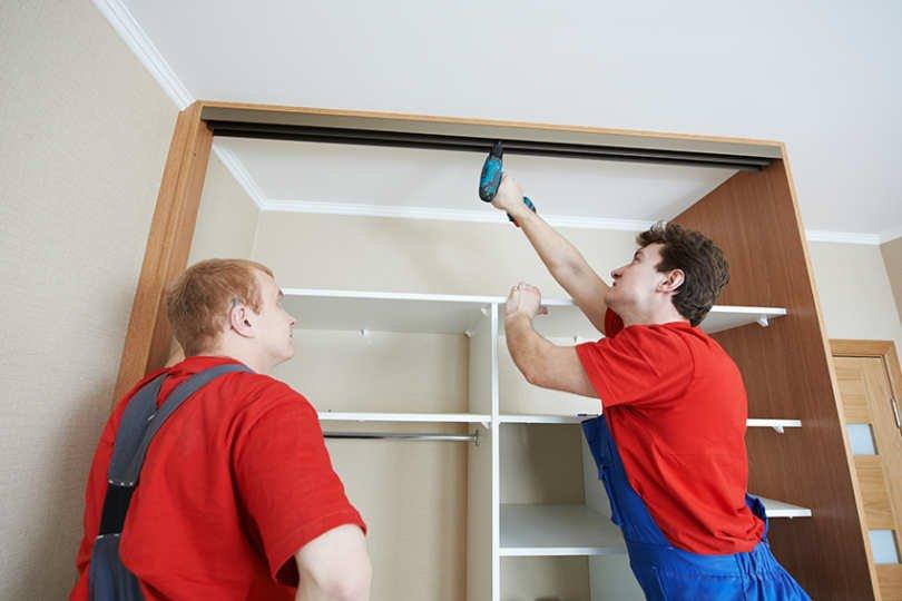 Сборка шкафа под потолок