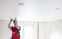 Как правильно установить встраиваемые точечные светильники в натяжной потолок