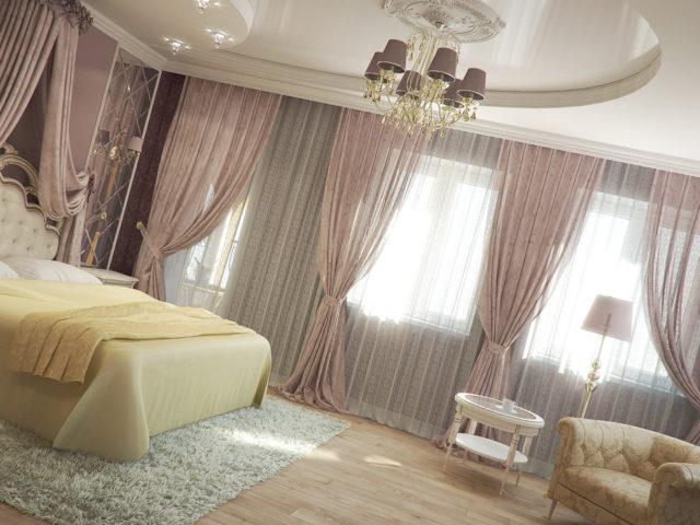 Потолок в пастельных тонах