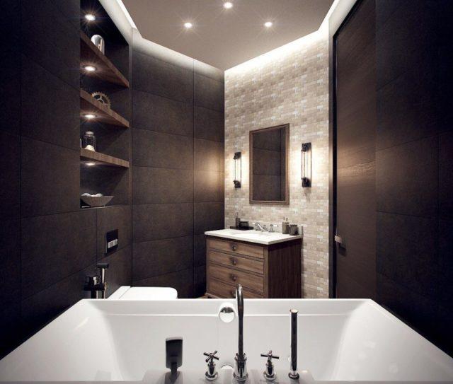 Полотно в ванной комнате