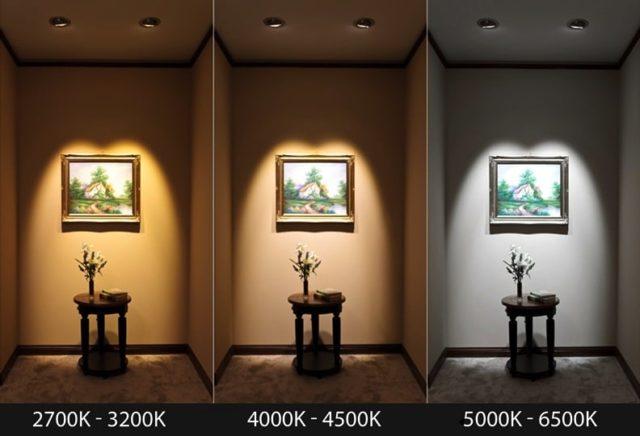 Сравнение освещения