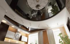 Варианты дизайна двухуровневых натяжных потолков