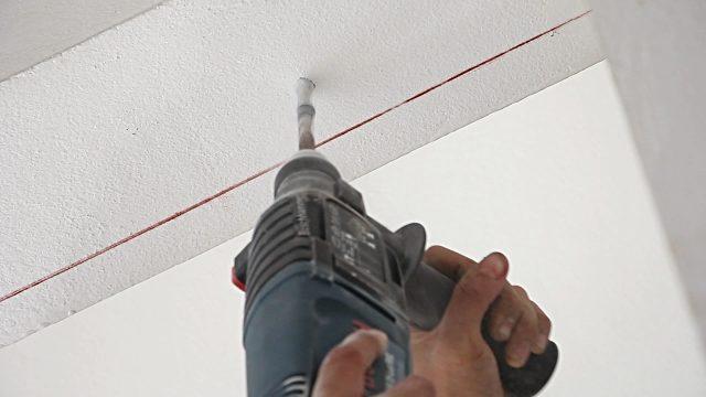 Сверление потолка