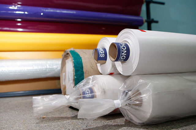 ПВХ-плёнка Pongs для натяжного потолка в рулонах
