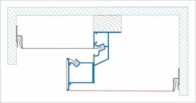 Схема устройства подсветки в нише с профилями КП 2 и НП 5
