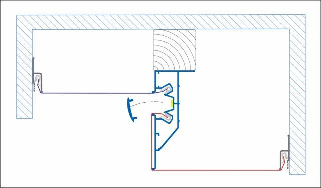 Схема устройства подсветки между уровнями с профилем ПЛ 75