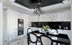 Идеи дизайна интерьера с черным натяжным потолком