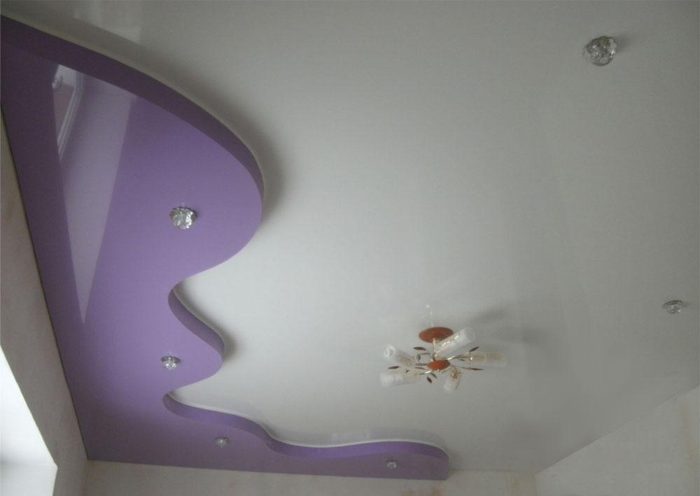 Простой двухуровневый натяжной потолок