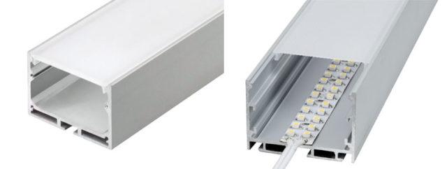 Врезной алюминиевый профиль для LED-лент