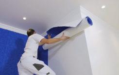 Как клеить обои, если уже установлен натяжной потолок: нюансы и хитрости