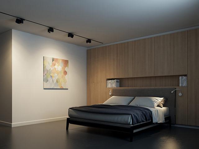 Акцентное освещение в спальне