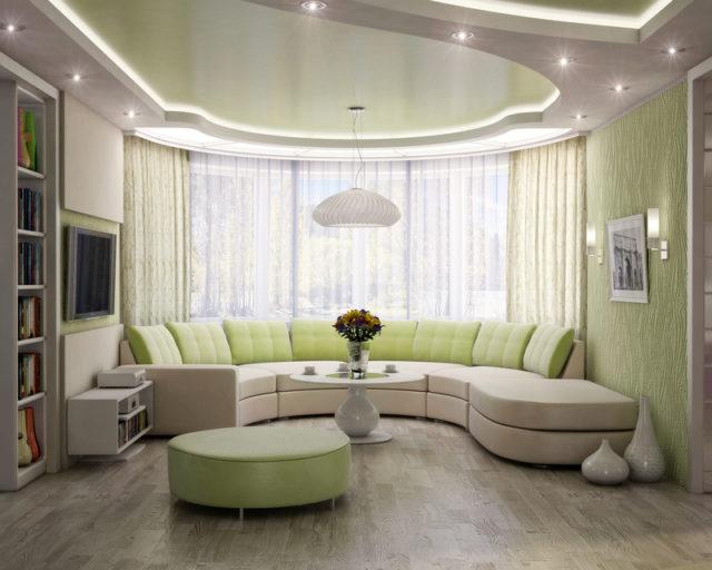 Вариант освещения гостиной