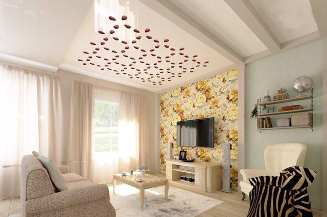 Многоуровневый потолок с перфорацией