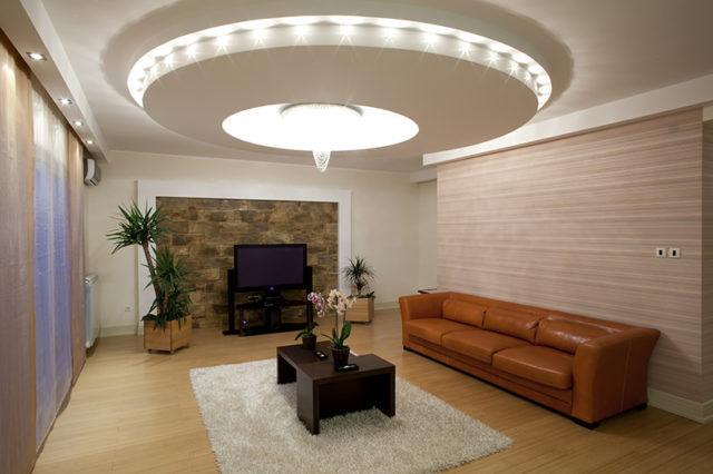 Потолок с диодным освещением