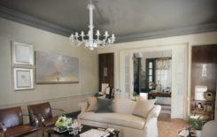 Натяжные потолки серого цвета в дизайне интерьера