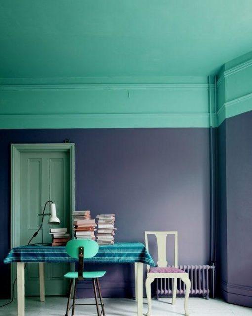 Сочетание бирюзы с фиолетовым оттенком