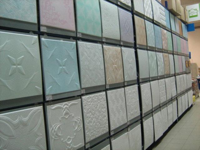 Разнообразие потолочной плитки