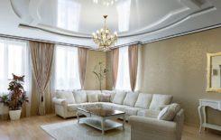 Идеи интерьеров с натяжными потолками белого цвета