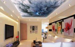 Фотообои на потолке в дизайне интерьера