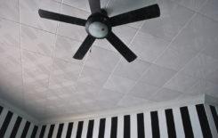 Диагональная поклейка потолочной плитки