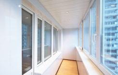Потолок на балконе из панелей ПВХ