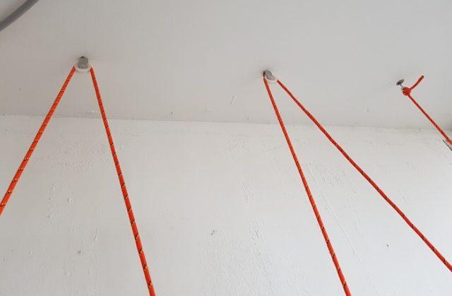 Три опорные точки на потолке