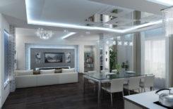 150+ вариантов дизайна потолка в стиле Хай-тек