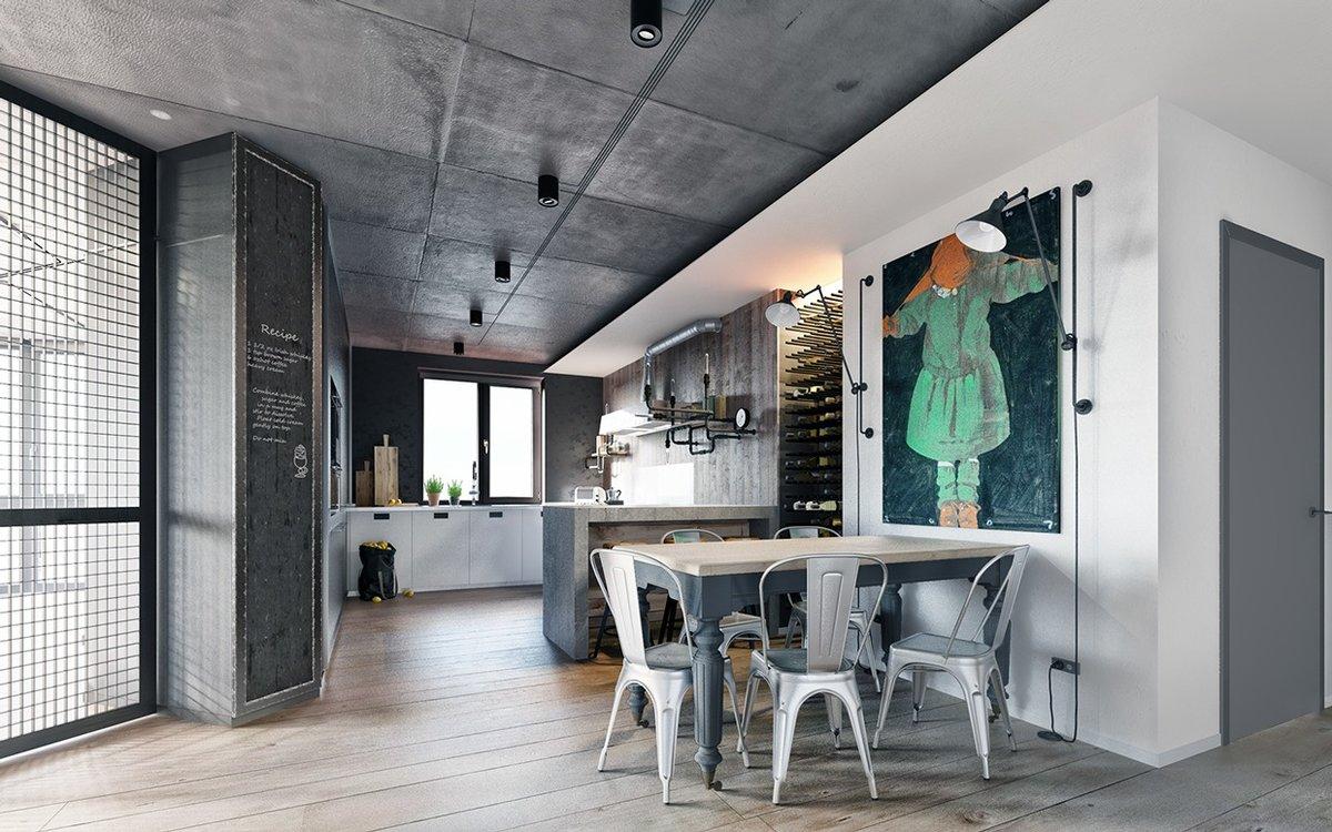 Лакированный бетон