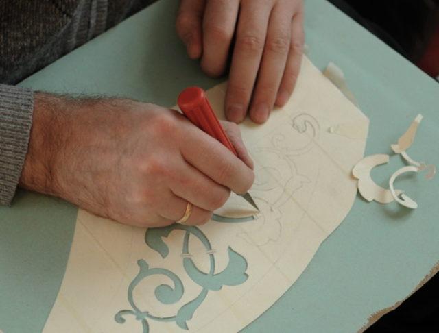 Подготовка трафарета из бумаги