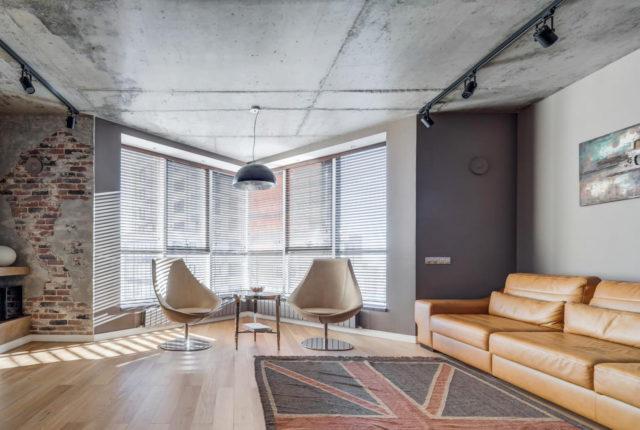 Бетонные потолки в интерьере: 100 идей оформления в стиле лофт