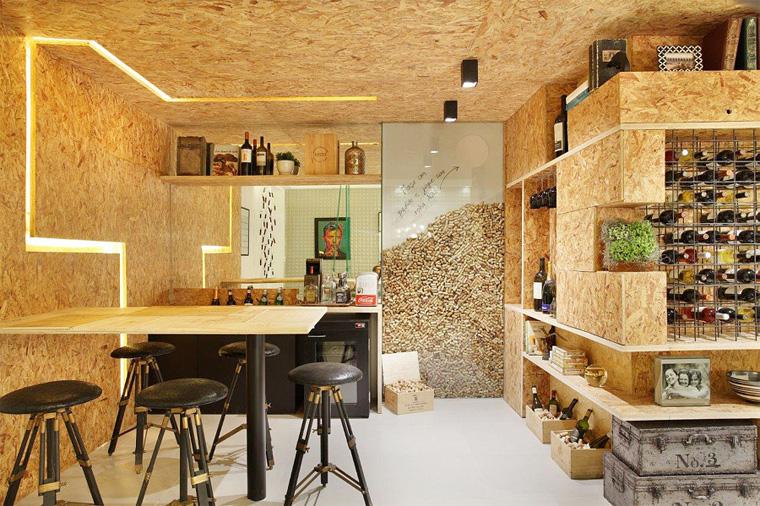Пробковый потолок на кухне