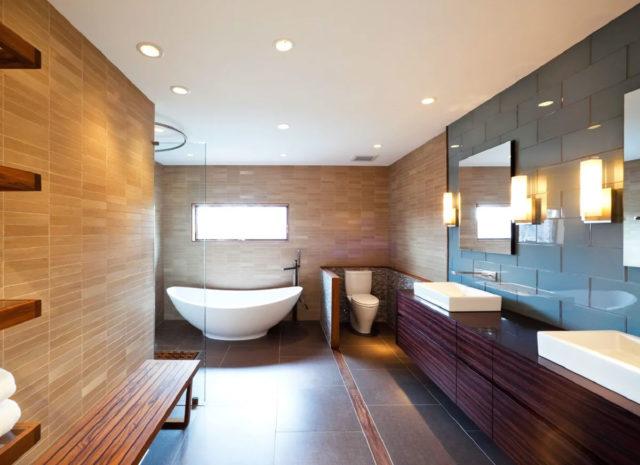 Парящие потолки в ванной комнате