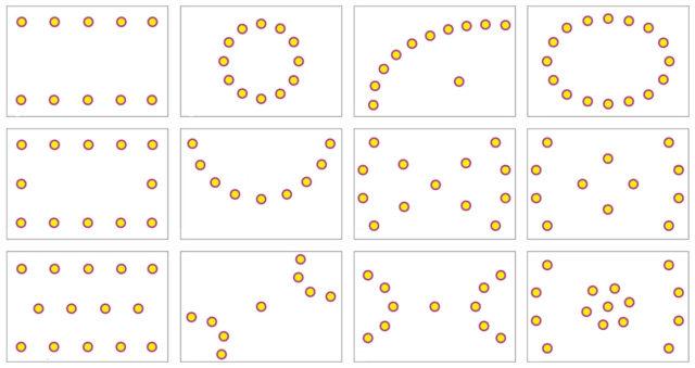 Схемы размещения точечных светильников